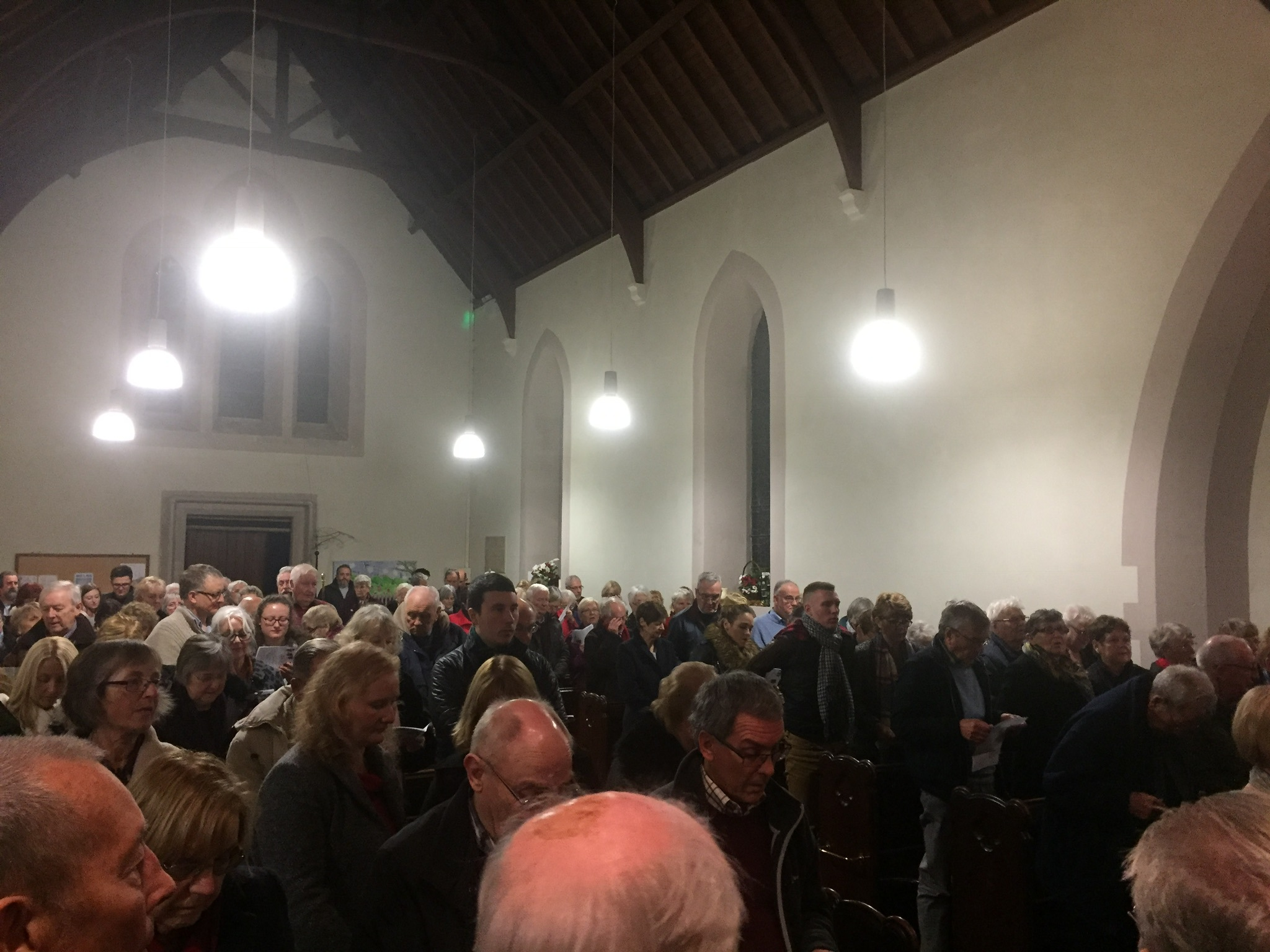 A packed church